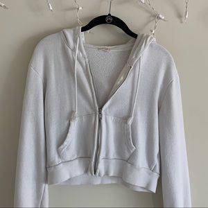 Brandy Melville cropped zip up